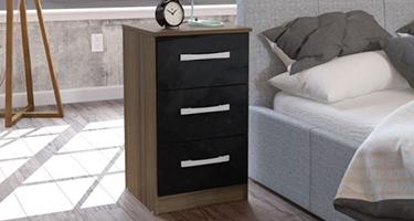3 Drawers Bedside Cabinet