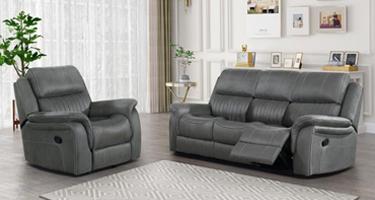 Amos Grey Recliner Sofa