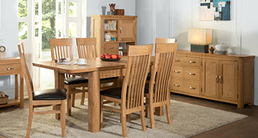 Annaghmore Treviso Solid Oak Dining Room