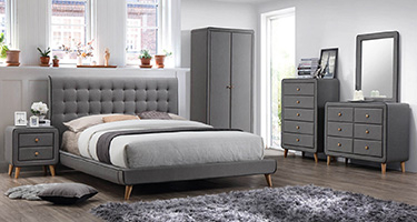 Artisan Grey Fabric Bedroom