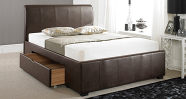 Artisan Leather Drawer Beds
