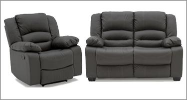 Barletto Grey Recliner Sofa