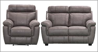 Baxter Grey Recliner Sofa