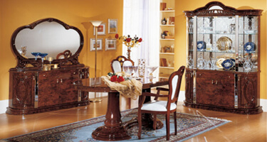 Ben Company Diva Walnut Italian Dining Room