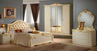 Ben Company Eva Beige with Gold Italian Bedroom