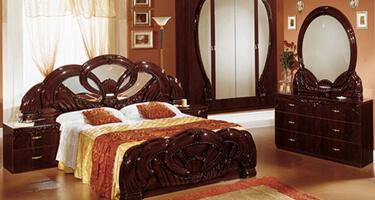 Ben Company Giada Mahogany Italian Bedroom