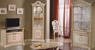 Ben Company Irene Beige Finish Italian Living Room
