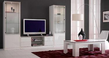 Ben Company Nadia White Finish Italian Living Room