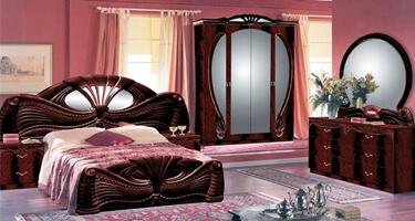 Ben Company Pamela Mahogany Italian Bedroom