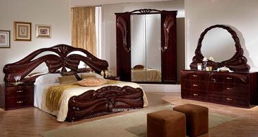 Ben Company Silvia Mahogany Italian Bedroom