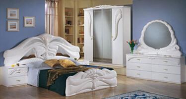 Ben Company Silvia White Italian Bedroom