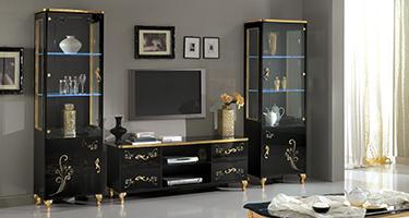 Ben Company Sofia Black and Gold Italian