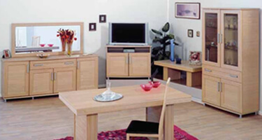 Ben Company Sonia Light Oak Italian Living Room
