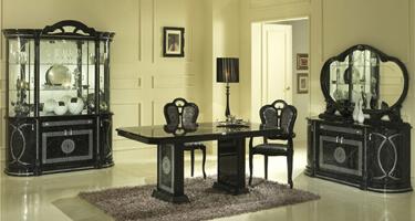 Ben Company Venus Black Finish Italian Dining Room
