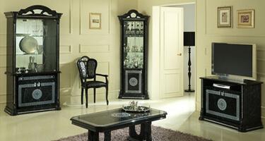 Ben Company Venus Black Finish Italian Living Room