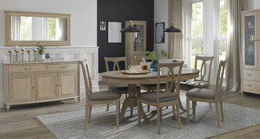 Bentley Designs Bordeaux Chalk Oak Dining Room
