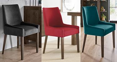 Bentley Designs Ella Walnut Dining Chairs