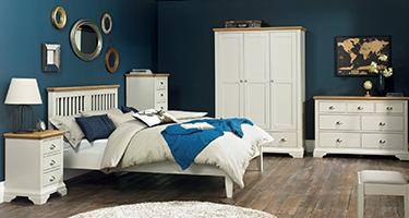 Bentley Designs Hampstead Soft Grey and Oak Bedroom