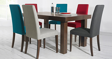 Bentley Designs Miles Walnut Dining Chairs