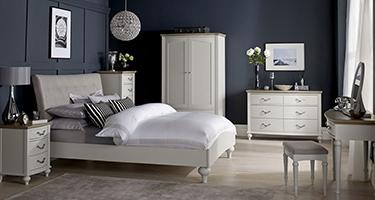 Bentley Designs Montreux Grey Washed Oak and Soft Grey Bedroom