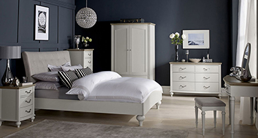 Bentley Designs Montreux Grey Washed Oak and Soft Grey Bedroom