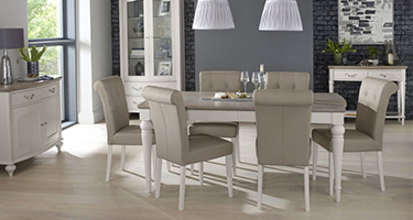 Bentley Designs Montreux Grey Washed Oak and Soft Grey Dining Room