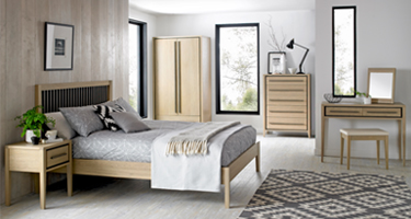 Bentley Designs Rimini Aged and Weathered Oak Bedroom
