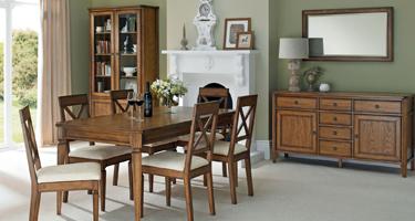 Bentley Designs Sophia Oak Dining Room