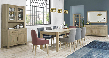 Bentley Designs Turin Aged Oak Dining