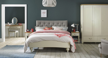 Bentley Designs Montreux Pale Oak and Antique White Bedroom