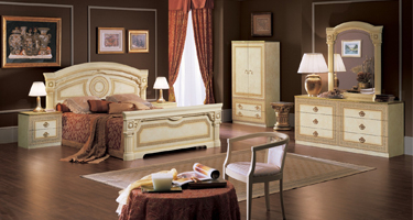 Camel Group Aida Light Ivory Finish Italian Bedroom