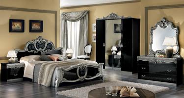 Camel Group Barocco Black Finish Italian Bedroom