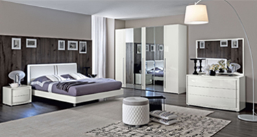 Camel Group Dama Bianca White High Gloss Bedroom