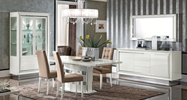 Camel Group Dama Bianca White High Gloss Dining Room