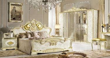Camel Group Leonardo Ivory Finish Italian Bedroom
