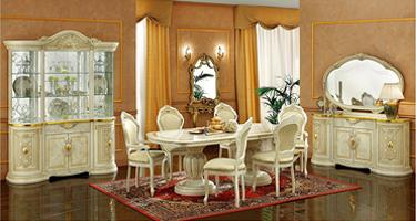Camel Group Leonardo Ivory Finish Italian Dining Room