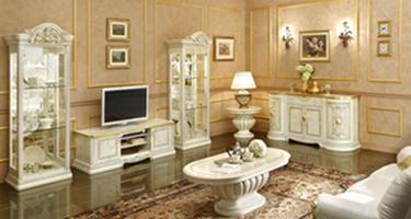 Camel Group Leonardo Ivory Finish Italian Living Room