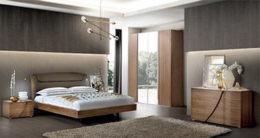 Camel Group Luna Walnut Finish Bedroom
