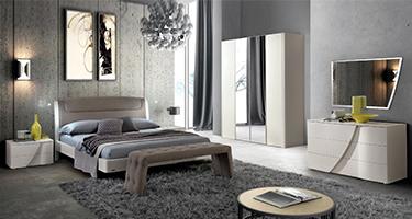 Camel Group Luna White Finish Bedroom