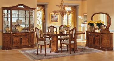 Camel Group Milady Walnut Finish Italian Dining Room