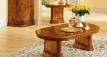 Camel Group Milady Walnut Finish Italian Living Room