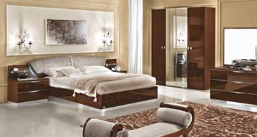 Camel Group Onda Walnut High Gloss Bedroom