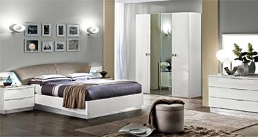 Camel Group Onda White High Gloss Bedroom
