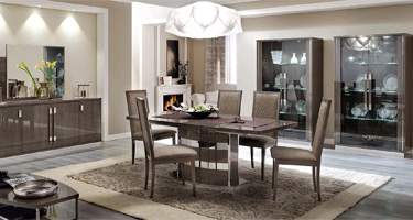 Camel Group Platinum Silver Birch Dining Room