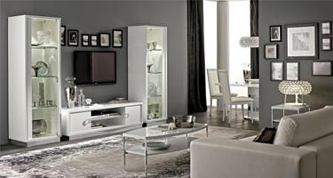 Camel Group Roma White High Gloss Living Room