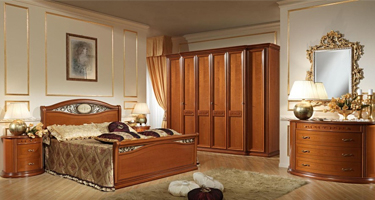 Camel Group Siena Cherry Finish Bedroom