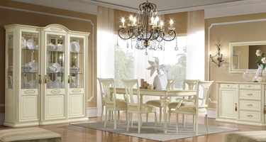 Camel Group Siena Ivory Finish Dining Room