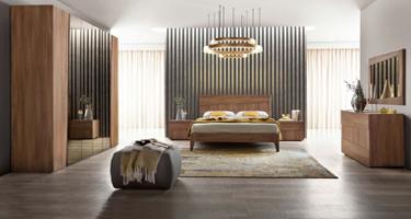Camel Group Storm Walnut Finish Bedroom