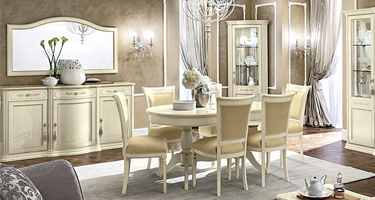 Camel Group Torriani Ivory Finish Italian Dining Room