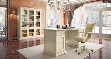 Camel Group Torriani Ivory Finish Italian Home Office